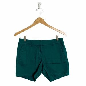 """J Crew 5"""" classic chino short in green size 2"""